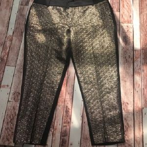 Dress pants with gold front
